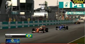 FECL 2017 #MalaysiaGP: F1Italian_Magic wind in Kuala Lumpur after a great battle with AOR driver Aressi. Third position for Simu driver Alonso.